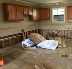 Kitchen prior to rebuilding